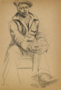 untitled (seated figure) by hughie lee-smith