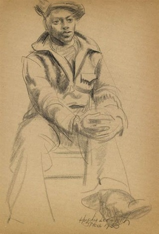 untitled seated figure by hughie lee smith