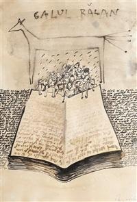 calul bălan (storyteller) by dan perjovschi
