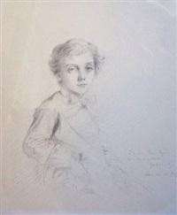 portrait de louis singer enfant by gustave moreau