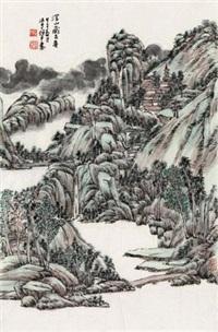 深山藏古寺 by gu ping