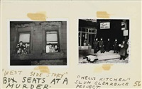 murder maquette (5 works) by weegee
