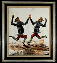 two dancing rabbis by morris katz