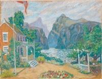 maison au bord du lac by aleksandr yakovlevich golovin
