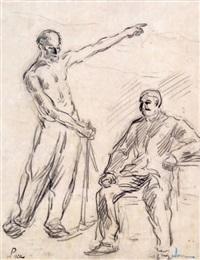 mineur conversant avec son patron by maximilien luce