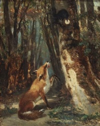 the fox and the raven by philippe rousseau