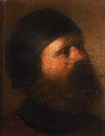 portrait dhomme de profil by jan van de venne
