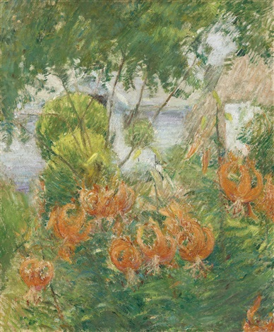 tiger lilies by john henry twachtman