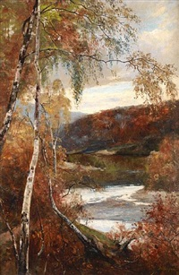 autumnal view by andrei nikolaevich shilder