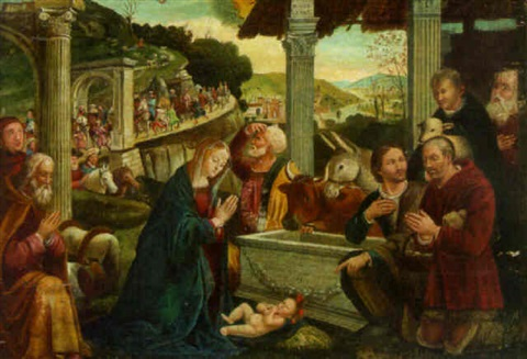 the adoration of the shepherds by domenico ghirlandaio