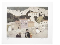 oppede le vieux (5 works) by mary fedden