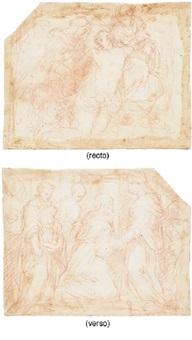 la deposition (+ la visitation, verso) by giovanni battista di matteo naldini
