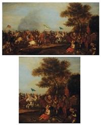 charge de cavaliers by pauwels van hillegaert