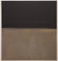 untitled (black on gray) by mark rothko