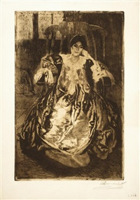 la robe de soie by albert besnard