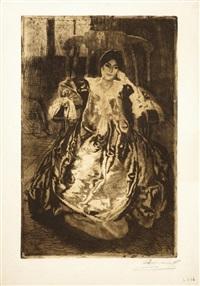 la robe de soie by albert besnard