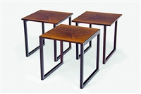 interlocking tables (set of 3) by jørgen bækmark