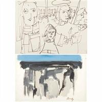 breakfast by the sea (+ subway, 1953, lrgr; 2 works) by gandy brodie