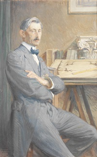 portrait de monsieur guilbert, architecte by eugène martial simas