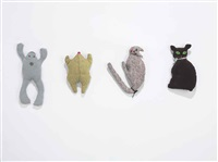 two frogs/two cats (in 4 parts) by mike kelley