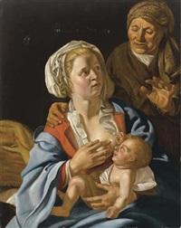 madonna con bambino e sant'anna by dirck van hoogstraten