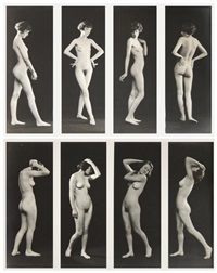 female figure series (pair) by albert arthur allen