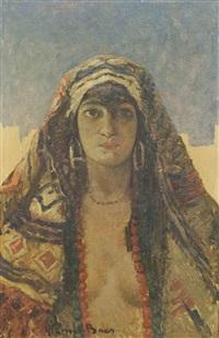 portrait de femme by emile baes