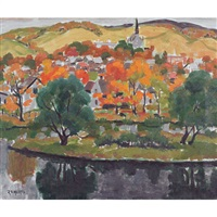 quebec village, autumn by randolph stanley hewton