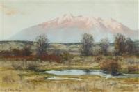 sierra blanca at sunset from san luis valley near garland by charles partridge adams