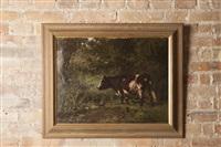 vache dans un pré by aymar (aimard alexandre) pezant