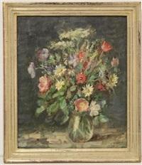 blumenstrauß in vase by oskar hagemann