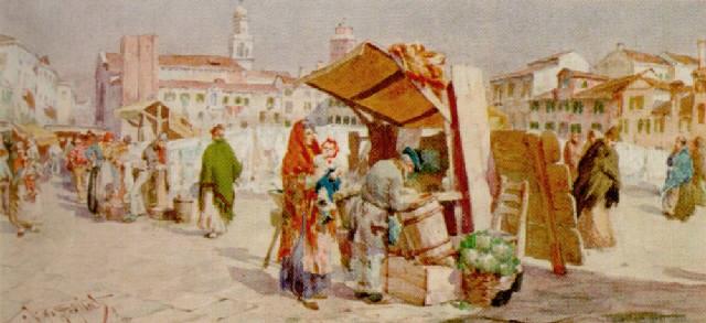 Giuseppe Vizzotto Alberti, Scena di mercato