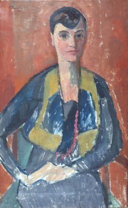 portrait einer jungen frau d v d m by paul basilius barth