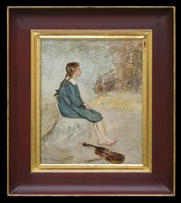 fiddler girl by vlastimil hofmann