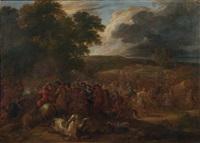 scène de bataille by lambert de hondt