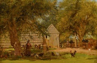the farmyard, upstate new york by jervis mcentee