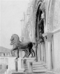the horses of st. mark's, venice by percy hague jowett