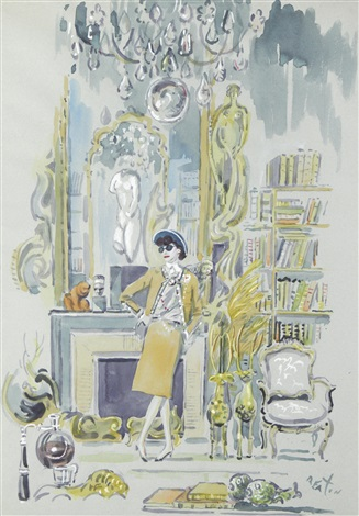 portrait of coco chanel in her salon by cecil beaton