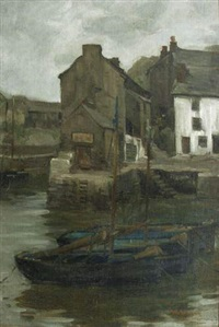 port breton, le soir by william a. macdonald