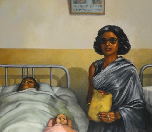 Visit III by Bikash Bhattacharjee on artnet
