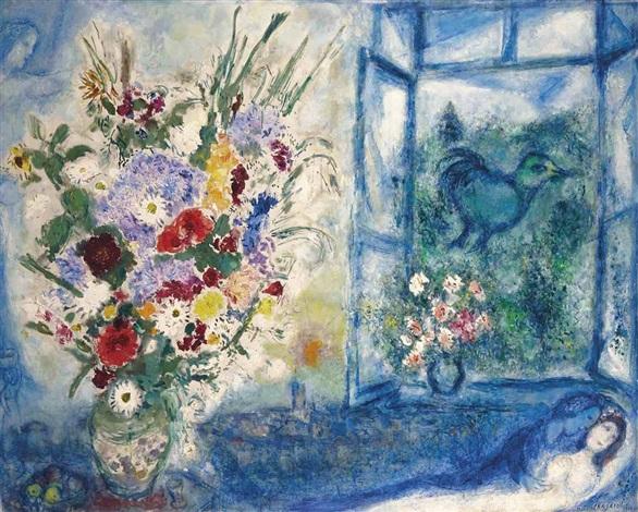 Bouquet pr s de la fen tre by marc chagall on artnet for Chagall tableau
