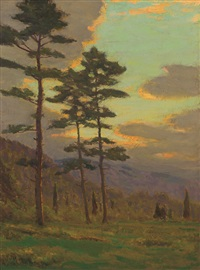 sunlight through the trees by charles warren eaton