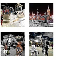 london transplants (4 works from ethnoscapes icon as transplants) by adeleke adekola