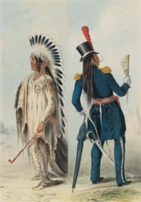 north american indian portfolio (portfolio of 25) by george catlin