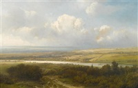 dutch summer scene by pieter lodewijk francisco kluyver