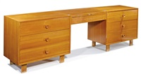 chest with vanity and stool (2) (model nos. 4600 & 4661) by george nelson