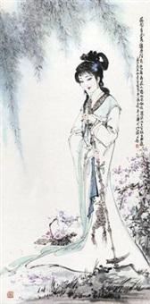 黛玉葬花 by bai bohua