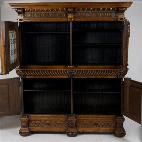 jacobean style cabinet late 19th early 20th c
