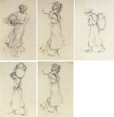 girl with a jar study 9 works by henry herbert la thangue