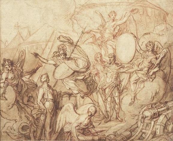 allégorie de la paix et de la guerre by antoine dieu